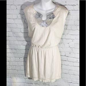 Chelsea & Violet dress Cream silver goddess dress